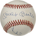 Autographs:Baseballs, Willie Mays, Mickey Mantle and Duke Snider Multi-Signed Baseball. Celebrated New York City centerfield trio of Willie, Micke...