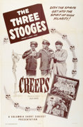 "Movie Posters:Comedy, The Three Stooges in ""Creeps"" (Columbia, 1956). One Sheet (27"" X41"")...."