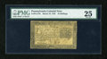 Colonial Notes:Pennsylvania, Pennsylvania March 16, 1785 10s PMG Very Fine 25....
