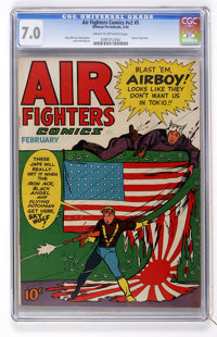Air Fighters Comics V2#5 (Hillman Fall, 1944) CGC FN/VF 7.0 Cream to off-white pages