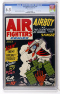 Golden Age (1938-1955):War, Air Fighters Comics #10 (Hillman Fall, 1943) CGC FN+ 6.5 Off-whitepages....