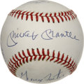 Autographs:Baseballs, 50 Home Run Club Multi-Signed Baseball. Each of the six players whocontribute a signature to the ONL (White) baseball that...