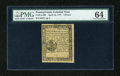 Colonial Notes:Pennsylvania, Pennsylvania April 10, 1777 3d PMG Choice Uncirculated 64....