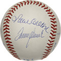 Autographs:Baseballs, 300 Win Club Multi-Signed Baseball. Here we present a memento from one of the most exclusive clubs in baseball with this ex...