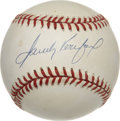 Autographs:Baseballs, Sandy Koufax Single Signed Baseball. Until just recently when Clayton Kershaw took the mound for the Dodgers, he became the...