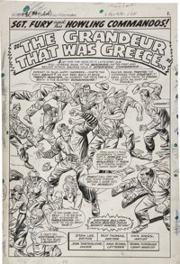 Dick Ayers and John Tartaglione - Sgt. Fury #33, Splash Page 1 Original Art (Marvel, 1965)