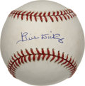 Autographs:Baseballs, Bill Dickey Single Signed Baseball. Instrumental in so many NewYork Yankees pennant winners, the Hall of Fame backstop Bil...