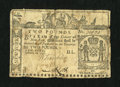 Colonial Notes:New York, New York February 16, 1771 £2 Very Good....