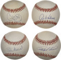 Autographs:Baseballs, Star Sluggers Single Signed Baseballs Lot of 4. Each of the fourfeatured players in this lot has been in the upper echelon...