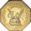 Territorial Gold, 1851 $50 RE Humbert Fifty Dollar, 887 Thous.--Improperly Cleaned--NCS. AU Details....
