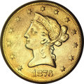 Liberty Eagles, 1876-CC $10 --Repaired, Improperly Cleaned--NCS. XF Details....