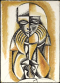 Texas:Early Texas Art - Drawings & Prints, XAVIER GONZALEZ (American, 1898-1993). The Oracle, 1946.Mixed media on paper. 26-1/4 x 19 inches (66.7 x 48.3 cm). Sign...