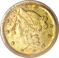 California Fractional Gold, 1853 50C Liberty Round 50 Cents, BG-416, Low R.7, MS62 PCGS....