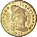 Early Quarter Eagles, 1804 $2 1/2 14 Star Reverse AU53 PCGS....
