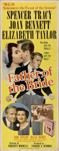 """Movie Posters:Comedy, Father of the Bride (MGM, 1950). Insert (14"""" X 36"""")...."""