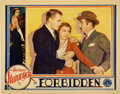 "Movie Posters:Drama, Forbidden (Columbia, 1932). Lobby Card (11"" X 14"")...."