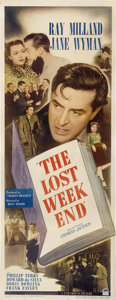 "Movie Posters:Drama, The Lost Weekend (Paramount, 1945). Insert (14"" X 36"")...."