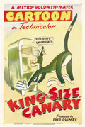 "Movie Posters:Animated, King-Size Canary (MGM, 1947). One Sheet (27"" X 41"")...."