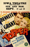 "Movie Posters:Comedy, Topper (MGM, 1937). Window Card (14"" X 22"")...."