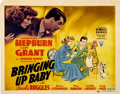 "Movie Posters:Comedy, Bringing Up Baby (RKO, 1938). Title Lobby Card (11"" X 14"")...."