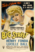 "Movie Posters:Drama, The Big Street (RKO, 1942). One Sheet (27"" X 41"")...."