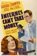 """Movie Posters:Drama, Internes Can't Take Money (Paramount, 1937). One Sheet (27"""" X 41"""")...."""