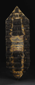 Indonesian: , Kenyah / Kayan Dayak (Kalimantan). Shield (kliau). Wood,pigment, human hair, string. Height: 53 inches Width: 20 inche...