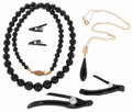 Estate Jewelry:Lots, Black Coral, Cultured Pearl, Gold Jewelry . ...