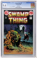 Bronze Age (1970-1979):Horror, Swamp Thing #4 (DC, 1973) CGC NM 9.4 White pages....