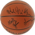 Basketball Collectibles:Balls, 1989-90 Los Angeles Lakers Team Signed Basketball. The Los AngelesLakers were one of the most dominating outfits in the NB...