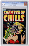 Golden Age (1938-1955):Horror, Chamber of Chills #19 File Copy (Harvey, 1953) CGC FN+ 6.5 Tan tooff-white pages....