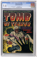 Golden Age (1938-1955):Horror, Tomb of Terror #5 File Copy (Harvey, 1952) CGC VF- 7.5 Light tan tooff-white pages....