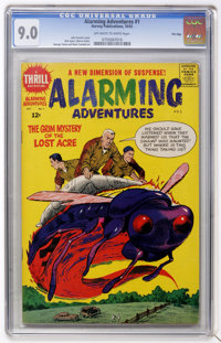 Alarming Adventures #1 File Copy (Harvey, 1962) CGC VF/NM 9.0 Off-white to white pages