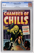 Golden Age (1938-1955):Horror, Chamber of Chills #6 File Copy (Harvey, 1952) CGC VG/FN 5.0 Lighttan to off-white pages....