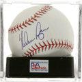 Autographs:Baseballs, Nolan Ryan Single Signed Baseball, PSA Gem Mint 10. Unimprovablesingle from the Strikeout King. Ball has been encapsulate...
