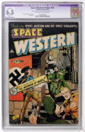 Golden Age (1938-1955):Science Fiction, Space Western #44 (Charlton, 1953) CGC Apparent FN+ 6.5 Slight (P)Off-white to white pages....