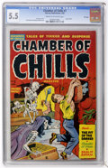 Golden Age (1938-1955):Horror, Chamber of Chills #7 File Copy (Harvey, 1952) CGC FN- 5.5 Cream tooff-white pages....