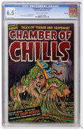 Golden Age (1938-1955):Horror, Chamber of Chills #12 File Copy (Harvey, 1952) CGC FN+ 6.5 Slightlybrittle pages....