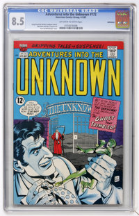 Adventures Into The Unknown #172 Bethlehem pedigree (ACG, 1967) CGC VF+ 8.5 Off-white to white pages