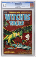Golden Age (1938-1955):Horror, Witches Tales #28 File Copy (Harvey, 1954) CGC VF 8.0 Light tan tooff-white pages....