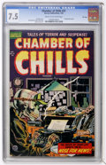 Golden Age (1938-1955):Horror, Chamber of Chills #21 File Copy (Harvey, 1954) CGC VF- 7.5 Cream tooff-white pages....