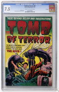 Golden Age (1938-1955):Horror, Tomb of Terror #8 File Copy (Harvey, 1953) CGC VF- 7.5 Cream tooff-white pages....