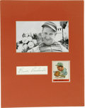 Autographs:Others, Ernie Lombardi & Edd Roush Signed Cut Signature Displays. Hall of Fame autographs find homes on blank pieces of paper, whic...