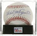 Autographs:Baseballs, Michael Jack Schmidt Single Signed Baseball, PSA Mint+ 9.5. The great red headed slugger of the Philadelphia Phillies has pr...