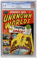 Golden Age (1938-1955):Science Fiction, Journey Into Unknown Worlds #5 (Atlas, 1951) CGC VG/FN 5.0Off-white pages....
