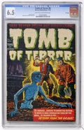Golden Age (1938-1955):Horror, Tomb of Terror #6 File Copy (Harvey, 1952) CGC FN+ 6.5 Light tan tooff-white pages....