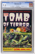 Golden Age (1938-1955):Horror, Tomb of Terror #16 (Harvey, 1954) CGC VF- 7.5 Off-white pages....