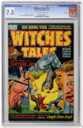 Golden Age (1938-1955):Horror, Witches Tales #13 File Copy (Harvey, 1952) CGC VF- 7.5 Tan tooff-white pages....