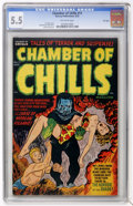 Golden Age (1938-1955):Horror, Chamber of Chills #11 (Harvey, 1952) CGC FN- 5.5 Off-whitepages....
