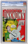 Silver Age (1956-1969):Horror, Adventures Into The Unknown #142 Bethlehem pedigree (ACG, 1963) CGCVF+ 8.5 Off-white pages....